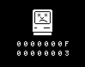 Pantalla de la muerte Mac
