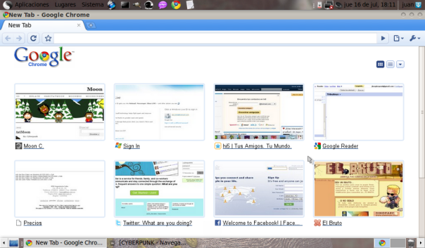 Chrome en Ubuntu